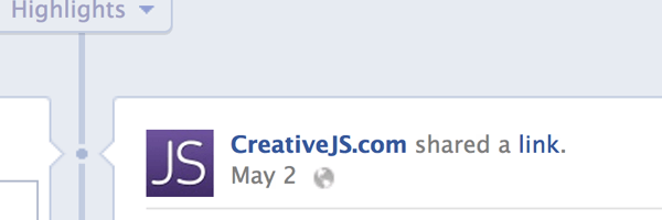 Creative JS Facebook page